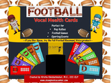 Voice Speech Therapy Football Voice Health Cards Freebie