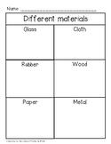 {*Freebie!*} Different Materials of Objects Sort - Kindergarten