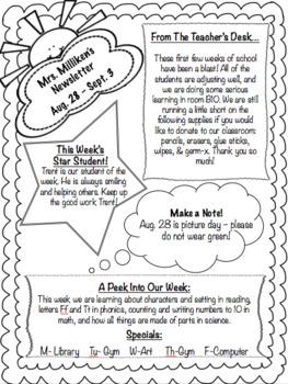 *** Freebie! Editable Classroom Newsletter