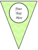 * Freebie*  Editable banner/pennant for classroom