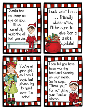 {Freebie} Elf Classroom Notes