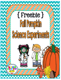 {Freebie} Fall Pumpkin Science Experiments