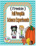 {Freebie} Fall Pumpkin Science Experiments