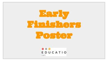 {Freebie} Fast Finishers Poster