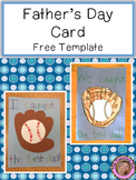 {Freebie} Father's Day Card Template