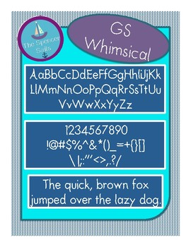 *Freebie Font* GS Whimsical by The Spencer Sails