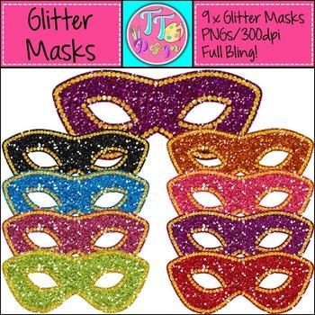 {Freebie} Glitter Masks Clip Art CU OK