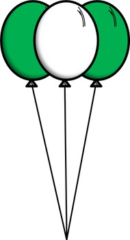 -Freebie- Green Balloons Clip Art!