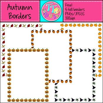 {Freebie} Halloween Fall Autumn Frames Clip Art CU OK