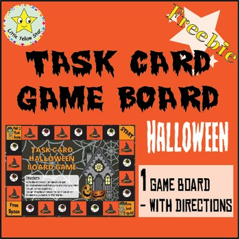 ***Freebie*** Halloween Task Card Game Board