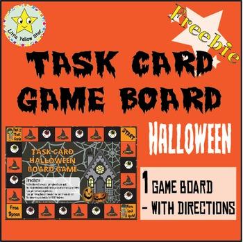 ***Freebie*** Halloween Task Card Game Board