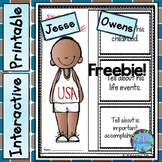 (Freebie) Jesse Owens Writing! Great Black History Month Activity