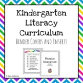 Kindergarten Literacy Curriculum Binder Organization