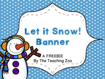 {Freebie!!!} Let it Snow! Pennant Bunting Banner