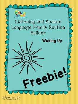 *Freebie* Listening and Spoken Language Routine Builder *Waking Up*