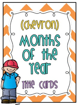 * Freebie * Months of the Year (chevron title cards)