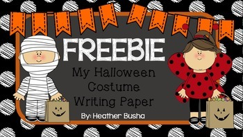 *Freebie* My Halloween Costume Writing