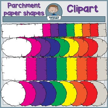 {Freebie} Parchment Paper Shapes Clipart