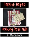 {Freebie} Parent Helper Holiday Printable Tags