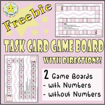 ***Freebie*** Pastel Pink Simple Task Card Game Board