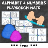 {Freebie} Playdough Mats: Alphabet and Numbers