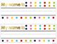 *Free* Polka Dot and Gold Name Tags