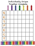 ** Freebie ** Positive Classroom Behavior Bingo - Crayon Themed