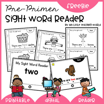 It's just an image of Printable Sight Word Readers within montessori