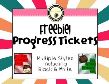*Freebie* Progress Tickets