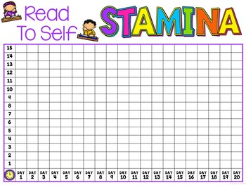 Reading Stamina Chart Free By Teachers Toolkit Tpt