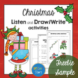 **Freebie Sample**: Christmas Listen and Draw activities.