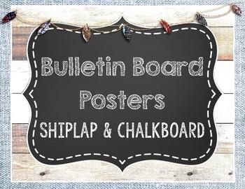 {Freebie} Shiplap and Chalkboard Posters