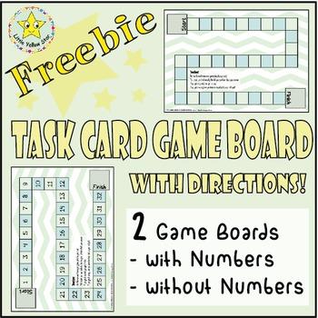 ***Freebie*** Simple Mint Green Task Card Game Board