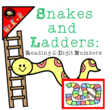 {Freebie} Reading 2-Digit Numbers: A Snakes and Ladders Game