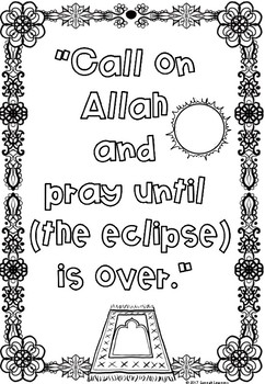 (Freebie) Solar Eclipse Coloring Page (Islamic Connection)