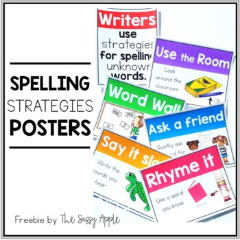 **Freebie** Spelling Strategies Posters