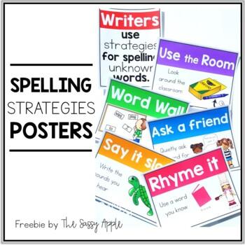 **Freebie** Spelling Strategies Posters