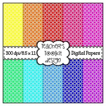 {Freebie} Squares Digital Background Papers {8.5 x 11} Clip Art CU OK