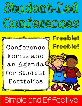 {Freebie} Student-Led Conferences Forms