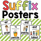 Suffixes 18 Colorful and B&W Posters for Reference | Teaching Suffixes