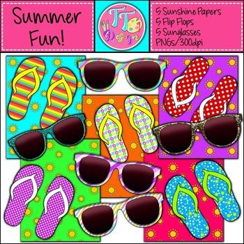 {Freebie}  Summer Fun Mini Pack Clip Art CU OK