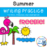 {Freebie!} Summer Writing Practice - Pre-K, Preschool, and Kindergarten