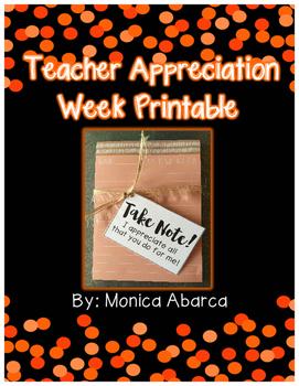 {Freebie} Teacher Appreciation Week Printable Tags
