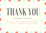 **Freebie** Teaching Thank You Notes (editable PPT)