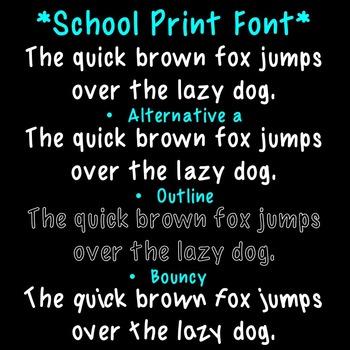 {Freebie} Toolkit's School Print Font CU OK