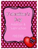 {Freebie} Valentine's Day Addition & Subtraction Packet