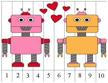 ***Freebie*** Valentine's Number Strip Puzzle