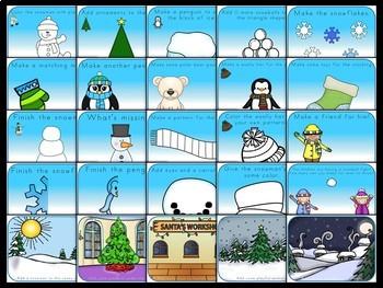 {Freebie} Winter Playdough Mats
