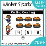 {Freebie} Winter Sports Digital Math Centers (Interactive Powerpoint Games)