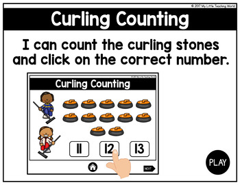 {Freebie} Winter Sports Digital Math Centers (Interactive Powerpoint Games)